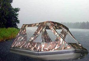 тенты для резиновой лодки